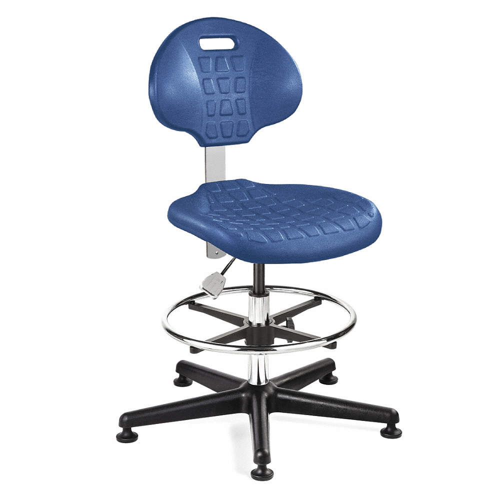 Surprising Polyurethane Cleanroom Task Chair With 21 To 31 Seat Height Range And 300 Lb Weight Capacity Blu Ibusinesslaw Wood Chair Design Ideas Ibusinesslaworg