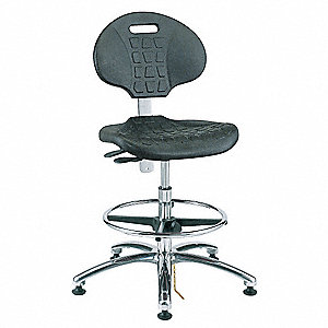 "Polyurethane ESD/Cleanroom Pneumatic Task Chair with 17-1/2"" to 25"" Seat Height Range and 300 lb. We"