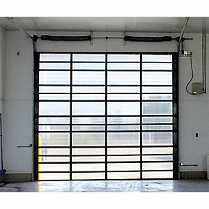 Dock Door, Translucent, 12 ft. Opening Width, 14 ft. Opening Height, Insulated: No