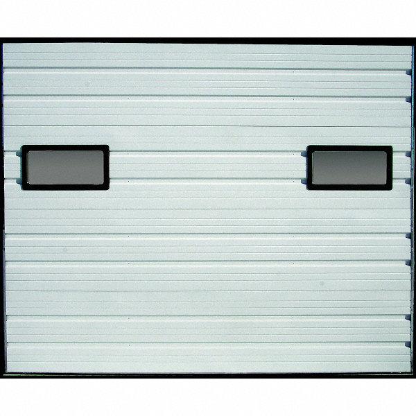 American Garage Door Embossed Dock Door White Opening