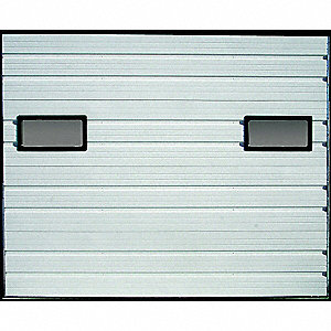 "Ribbed White Dock Door,  Opening Height: 8 ft., Opening Width: 7 ft. 4"", Insulated: No"