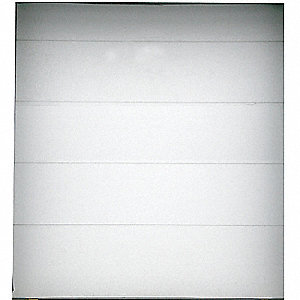 "Embossed Dock Door, White&#x3b; Opening Height: 7 ft. 6"", Opening Width: 7 ft. 10"", Insulated: Yes"