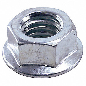 Flanged Serrated Hex Nut,Zinc,PK16