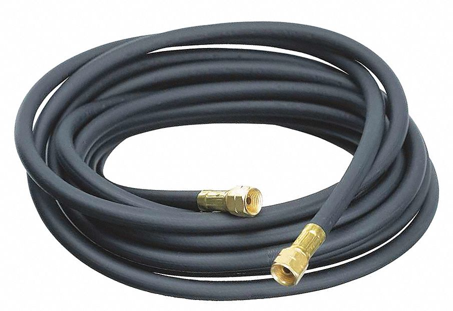 Gas Hose,  Hose Grade Liquid Propane,  1/4 in,  25 ft,  Black