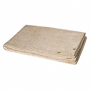 "Uncoated Fiberglass Welding Blanket, 6 ft. H x 10 ft.W x 0.035"" Thick, Tan"