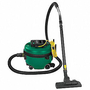2 gal. Commercial Series Canister Vacuum, 106 cfm, 9 Amps, HEPA, ULPA Filter Type