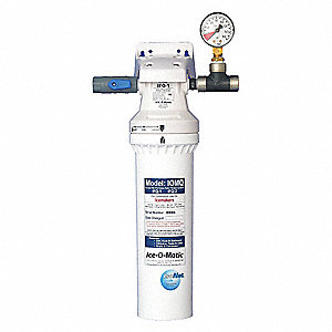 Plastic Ice Machine Filter System, 1.5 gpm, 125 psi