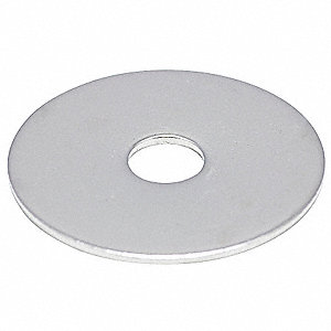 "1/2""x2"" O.D., Large OD Flat Washer, Stainless Steel, 18-8, NL-19(SM), EA1"