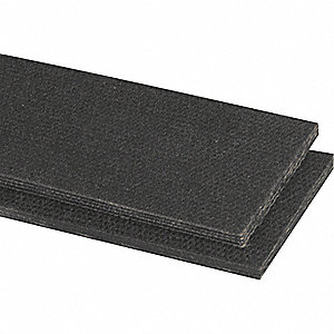 Conveyor Belt,4Ply 200,Ntrle Blk,18InW
