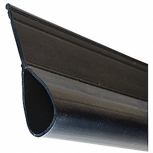 Weatherseal Bottom, Gray, 1-1/2 In