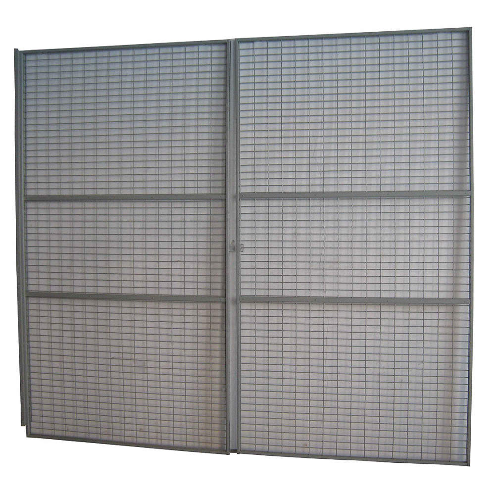 Grainger Approved Gray Steel Wire Mesh Door Kit 96h X 144d