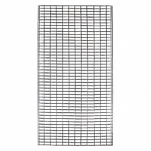 "Silver Steel Wire Mesh Side Panel Kit 96""W x 48""D"
