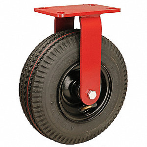 "10"" Light-Medium Duty Sawtooth Tread Rigid Pneumatic Caster, 480 lb. Load Rating"