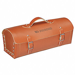 Leather Tool Bag Width, Number of Pockets: 1, Light Brown