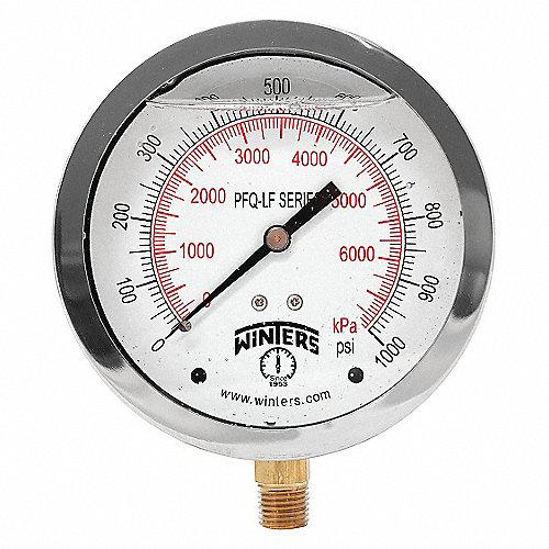Winters man metro presi n 0 a 1000 psi man metros y for Manometro para medir presion de agua