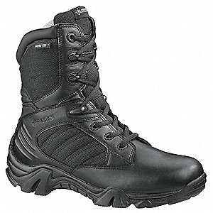 "8""H Men's Boots, Composite Toe Type, Leather/Nylon Upper Material, Black, Size 10-1/2"