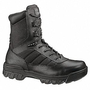 "8""H Men's Boots, Composite Toe Type, Leather/Nylon Upper Material, Black, Size 5-1/2M"
