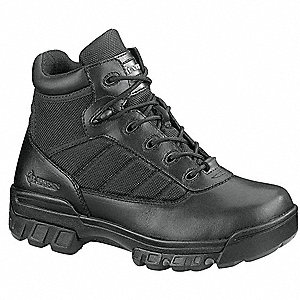 a6558540100 Military/Tactical Boots, Toe Type: Plain, Black, Size: 6