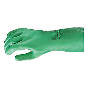 Chemical Resistant Gloves,13in.L,M,PR
