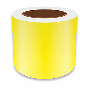 "Continuous Vinyl Label Tape, Yellow, 4""W x 75 ft."