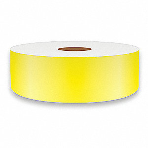 "Continuous Vinyl Label Tape, Yellow, 1""W x 75 ft."