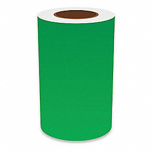 "Continuous Vinyl Label Tape, Green, 8""W x 150 ft."