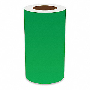 "Continuous Vinyl Label Tape, Green, 9""W x 150 ft."