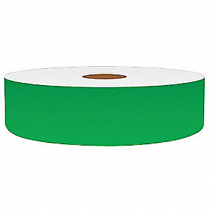 "Continuous Vinyl Label Tape, Green, 1""W x 150 ft."