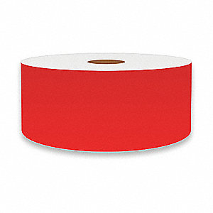 "Continuous Vinyl Label Tape, Red, 2""W x 150 ft."