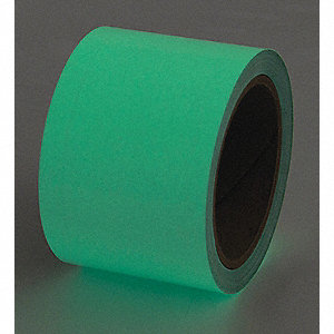 "Glow-in-the-Dark Marking Tape, Solid, Continuous Roll, 1"" Width, 1 EA"