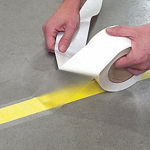 "Floor Marking Tape, Solid, Continuous Roll, 5"" Width, 1 EA"