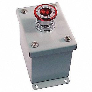 Push Button Control Station, 1NC Contact Form, Number of Operators: 1