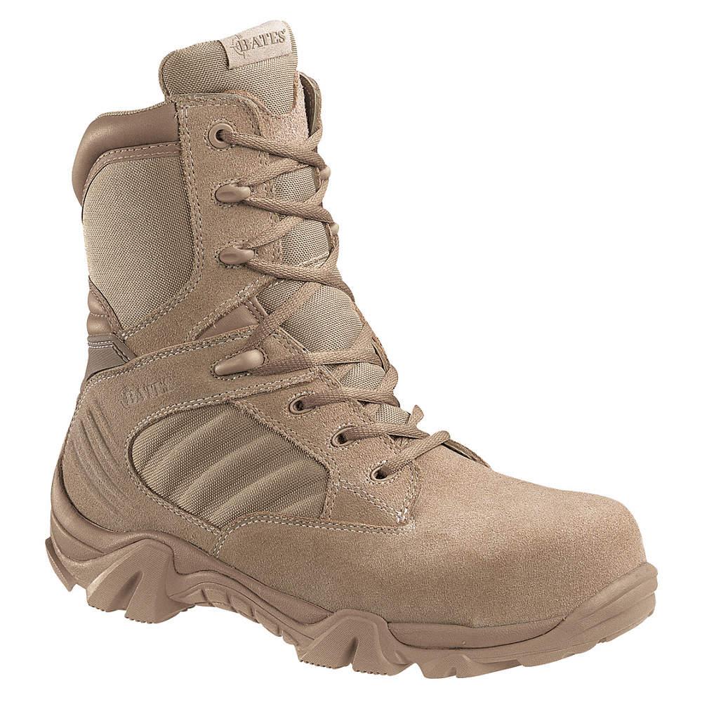 d44d669b115 Military/Tactical Boots, Toe Type: Composite, Desert Tan, Size: 7