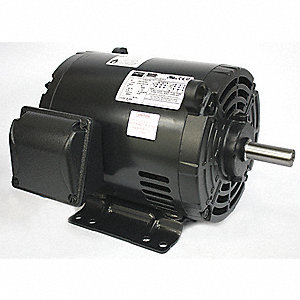 2 HP General Purpose Motor,3-Phase,1750 Nameplate RPM,Voltage 230/460,Frame 182/4