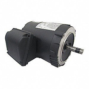 1/4 HP General Purpose Motor,3-Phase,1160 Nameplate RPM,Voltage 208-230/460,Frame 56C