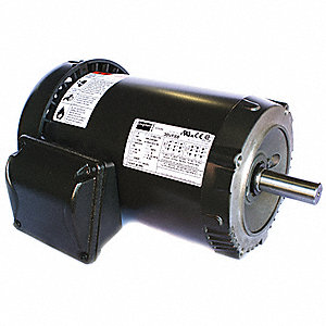 3/4 HP General Purpose Motor,3-Phase,1135 Nameplate RPM,Voltage 208-230/460,Frame 143TC