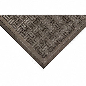 Rubber Entrance Mat,Black,4ft. x 6ft.