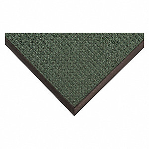 "Indoor/Outdoor Entrance Mat, 4 ft. L, 3 ft. W, 3/8"" Thick, Rectangle, Green"