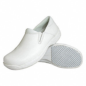 "4""H Men's Work Shoes, Plain Toe Type, White, Size 10-1/2"