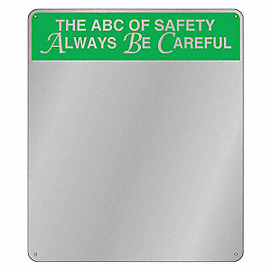 "Indoor Safety Mirror, Acrylic Lens Material, 16"" Width, 19"" Height"