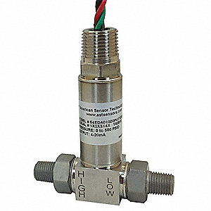 Transducer,0 to 10psi,4 to 20mA,1/2inNPT