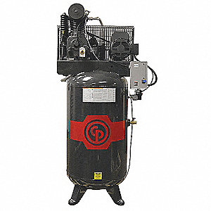 3 Phase - Electrical Vertical 7.50HP - Air Compressor Stationary Air Compressor, 80 gal., 23.0