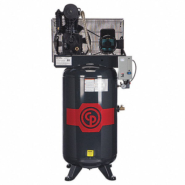 Chicago Pneumatic 1 Phase Electrical Vertical Tank Mounted Air Compressor Stationary