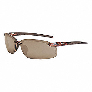 Crossfire Scratch-Resistant Safety Glasses, Brown Lens Color