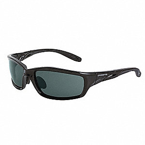 Crossfire Scratch-Resistant Safety Glasses, Smoke Lens Color