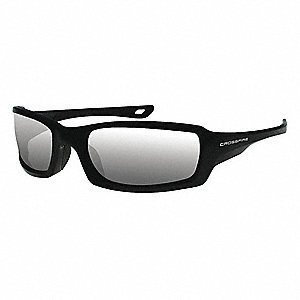 Crossfire Scratch-Resistant Safety Glasses, Indoor/Outdoor Mirror Lens Color