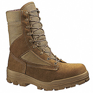 "8""H Women's Boots, Steel Toe Type, Warrior Leather / Nylon Upper Material, Tan, Size 4"
