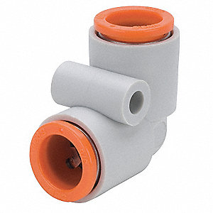 "1/2"" Plastic Union Elbow, 90°, White/Gray"
