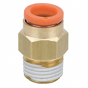 "3/16"" Brass Male Adapter, Brass"