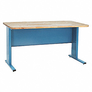 "Workbench, Butcher Block, 24"" Depth, 30"" Height, 48"" Width, 1000 lb. Load Capacity"